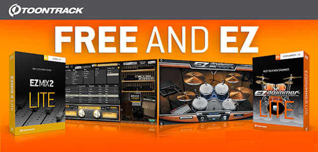 Descarga gratis Toontrack EZdrummer Lite y EZmix 2 Lite