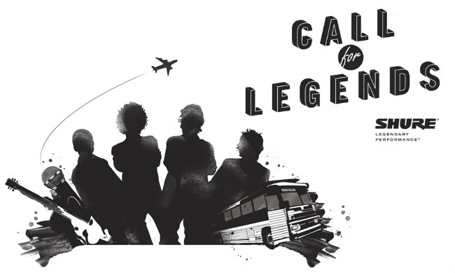 Participa con tu grupo en el concurso Shure Call For Legends