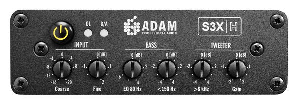Ajustes del monitor Adam Audio S3X