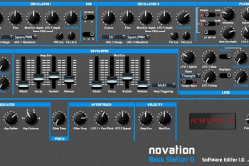 Editor software de Synthmania para el sinte Novation Bass Station II
