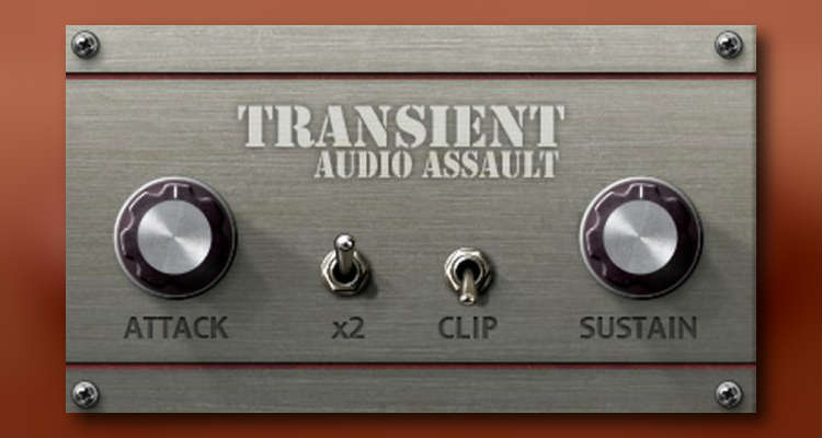 Audio Assault Transient, procesador plugin gratis de transitorios para PC y Mac