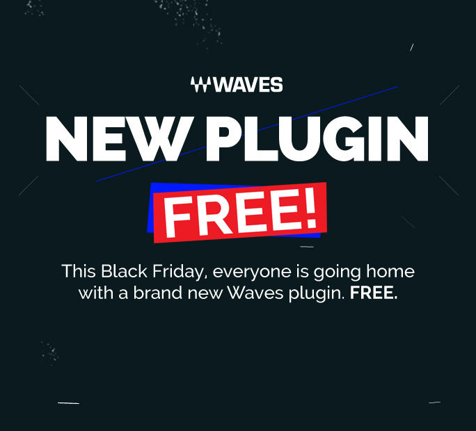 Plugin gratis Waves por Black Friday -¡aunque la noticia es colorida!