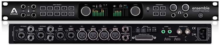 Interfaces de audio 2014: Apogee Ensemble Thunderbolt 2