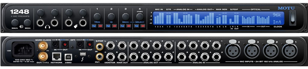 Interface de audio MotU 1248 AVB