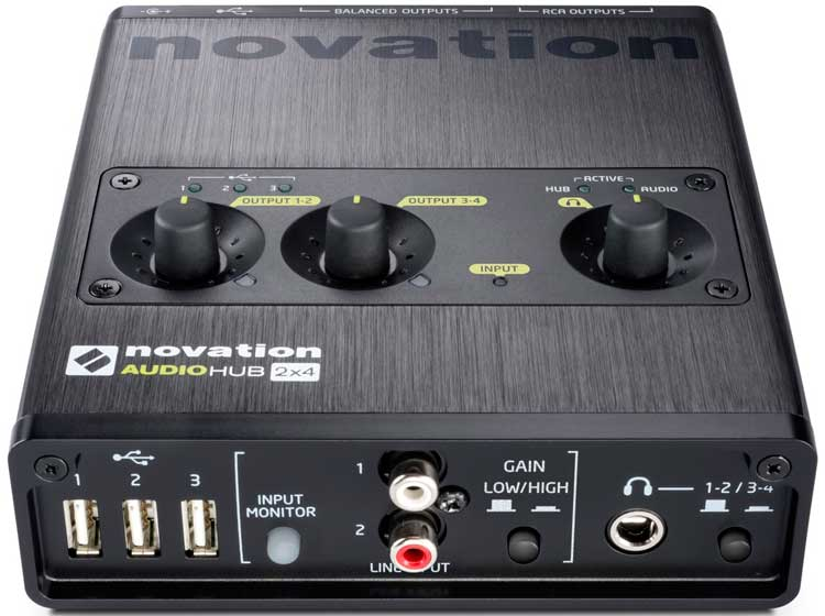 Interfaces de audio 2014: Novation Audiohub 2x4