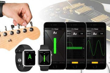 Afina tu guitarra o bajo usando Apple Watch y la app UltraTuner de IK Multimedia