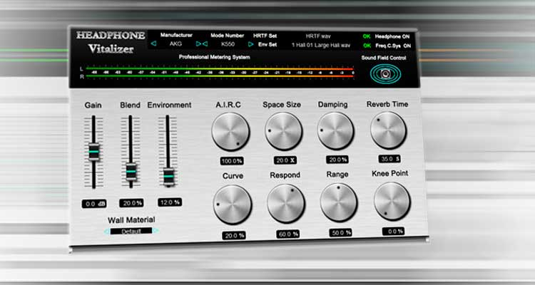 Headphone Vitalizer, un plugin VST para mejorar auriculares