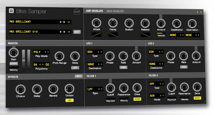 Sampler virtual discoDSP Bliss: samplea sintetizadores VST