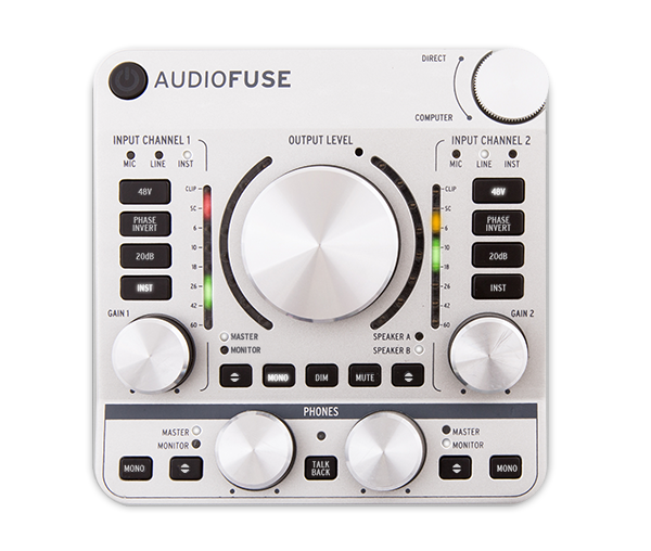 Arturia AudioFuse, panel frontal