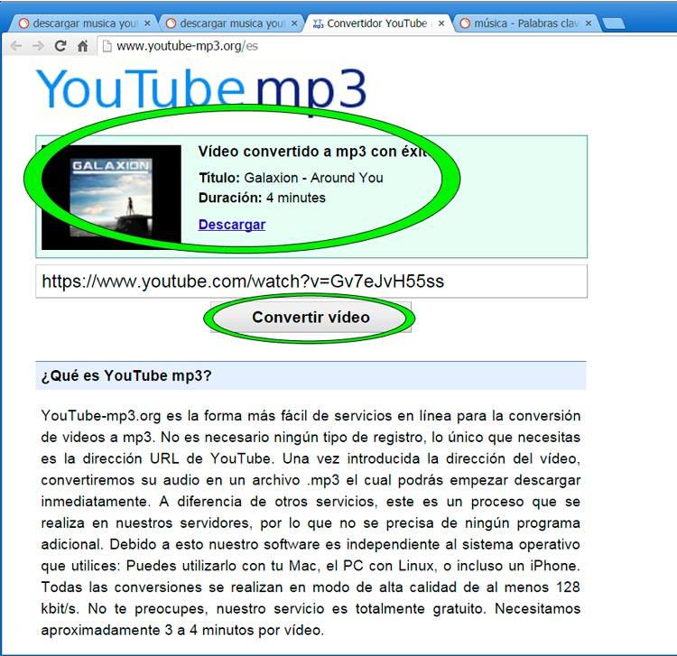 Descargar musica youtube mp3