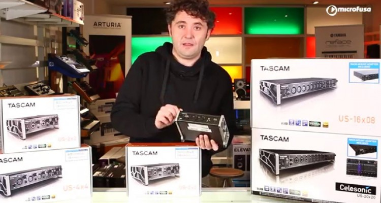 Interfaces de audio Tascam US Series desde microFusa Madrid