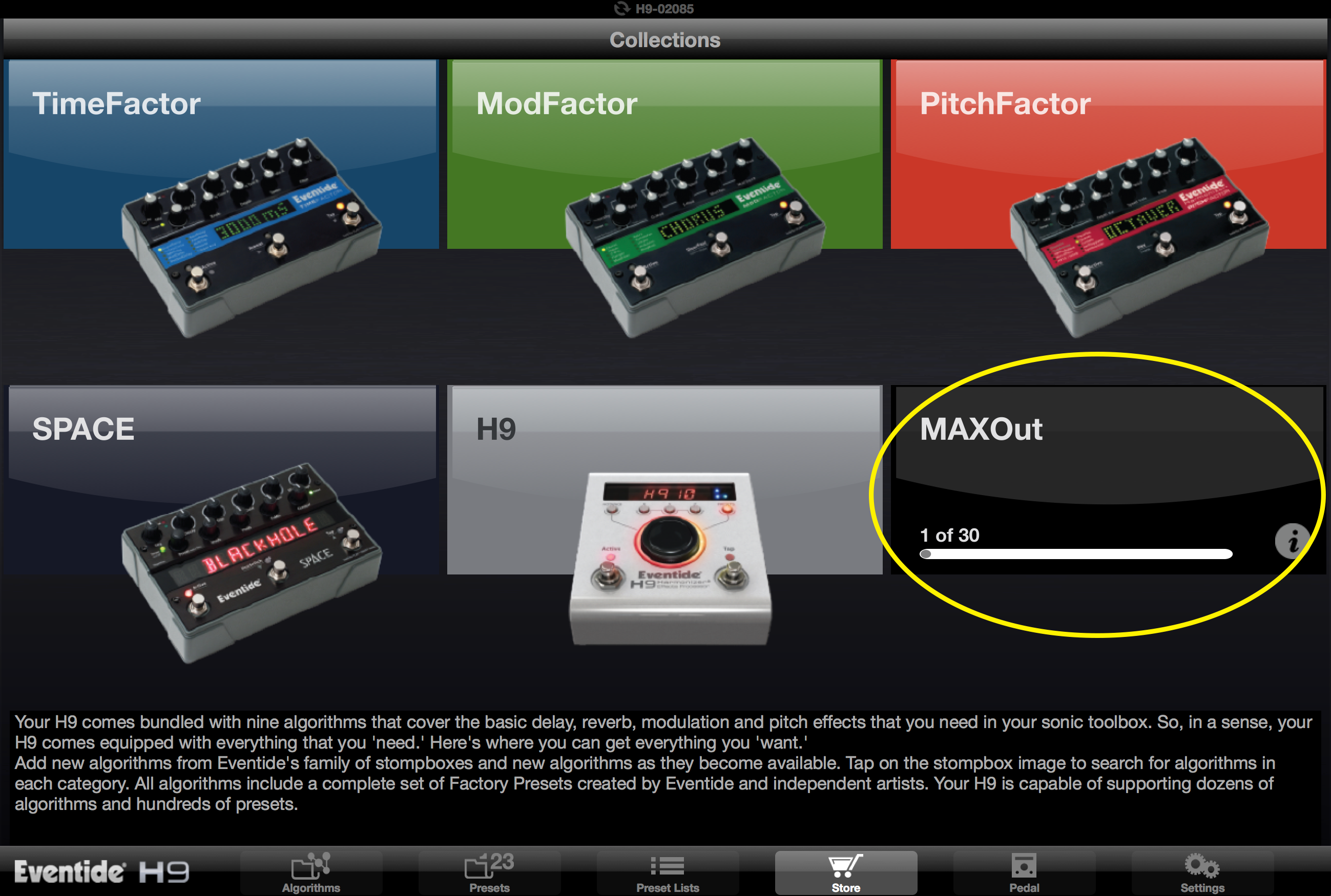Eventide H9 MaxOut, tutorial