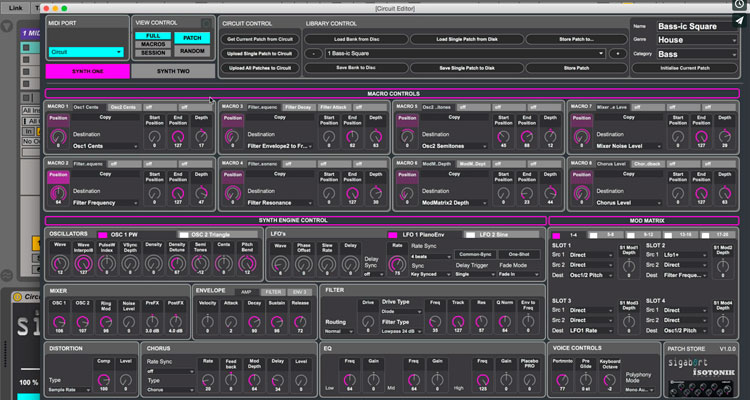 Isotonik Studios Circuit Editor PRO para Novation Circuit