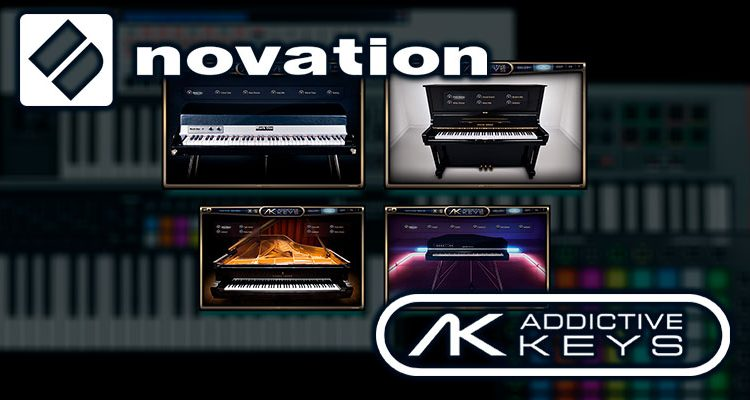 Piano virtual Addictive Keys, gratis con teclados y controladores Novation
