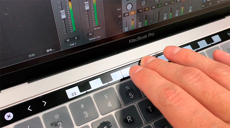 Apple Logic 10.3 con Touch Bar: un teclado MIDI en MacBook Pro