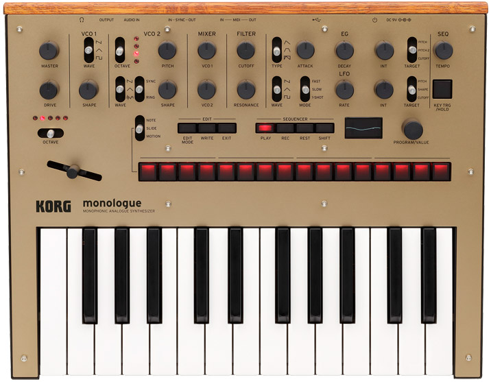 korg monologue gold frontal
