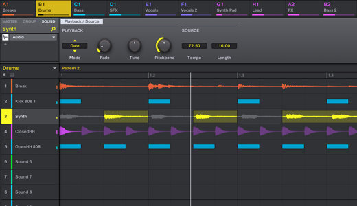 Timestretching a tiempo real en Maschine 2.7