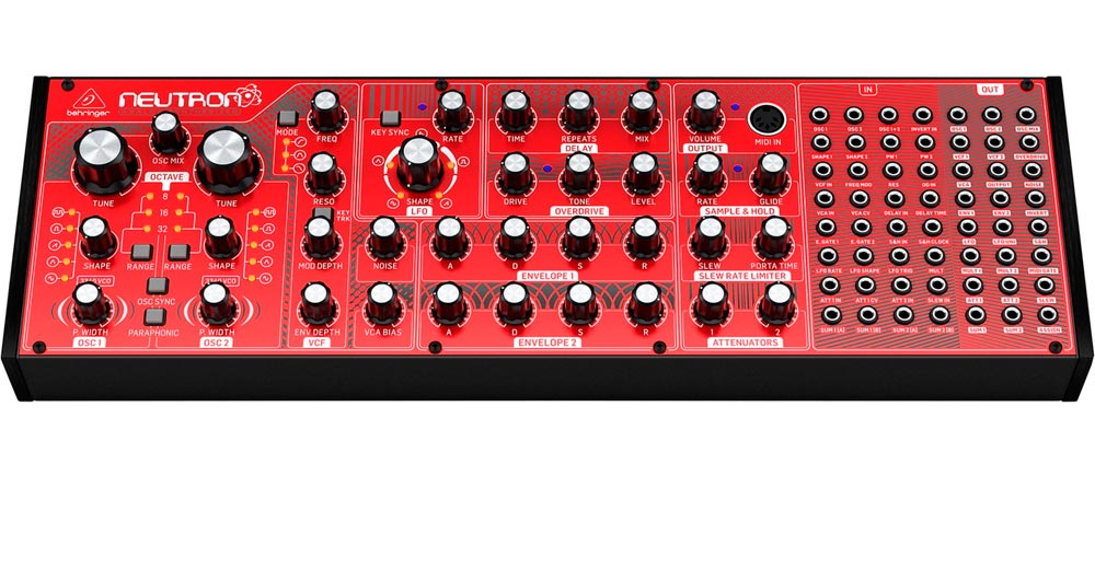 Behringer Neutron: panel frontal