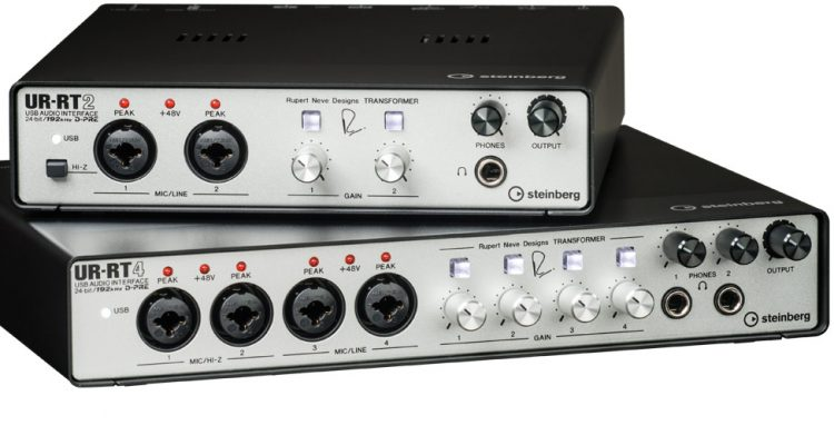 Los interfaces de audio Steinberg UR-RT2 y UR-RT4 incluyen tecnología de Rupert Neve Designs