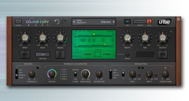 u-he Colour Copy, un delay plugin suavizado que puedes descargar como beta