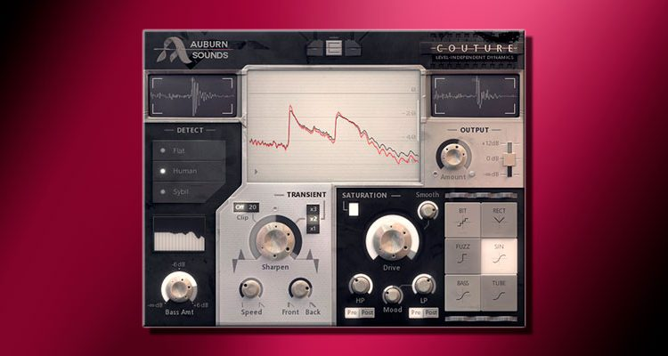 Modelado de transitorios gratis con el plugin VST Couture de Auburn Sounds