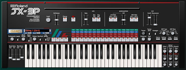 Roland Cloud JX-3P con toda su magia vintage, ahora en formato virtual a través del modelado Analog Circuit Behavior