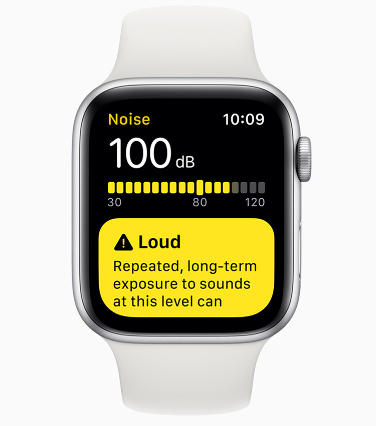 Medida de presión sonora en Apple Watch vía Noise App