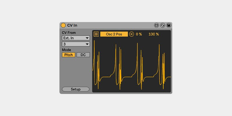 'CV In' en Ableton CV Tools