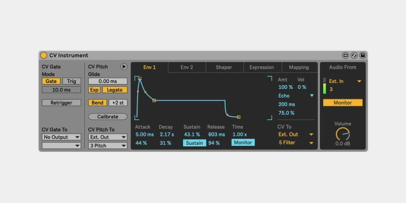 'CV Instrument' en Ableton CV Tools