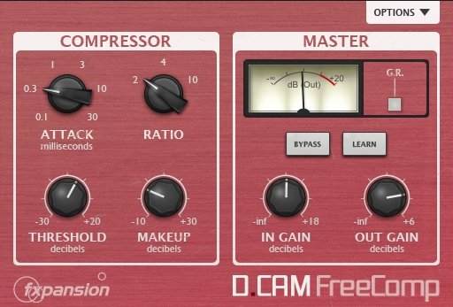 plugins gratis de mezcla y mástering: FXpansion DCAM FreeComp