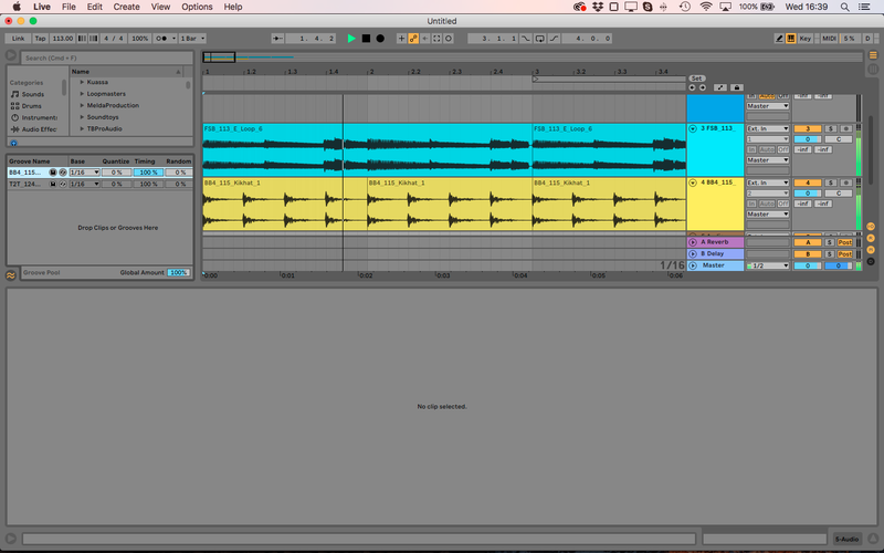 Toque humano musical: Groove en Ableton Live