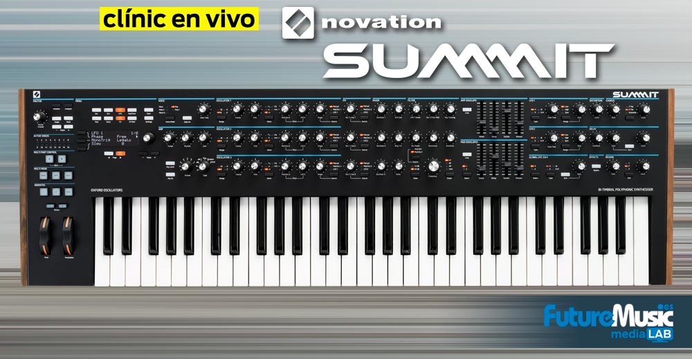 Sintes en vídeo: Así sonó Novation Summit en su presentación oficial | FutureMusic media[LAB]