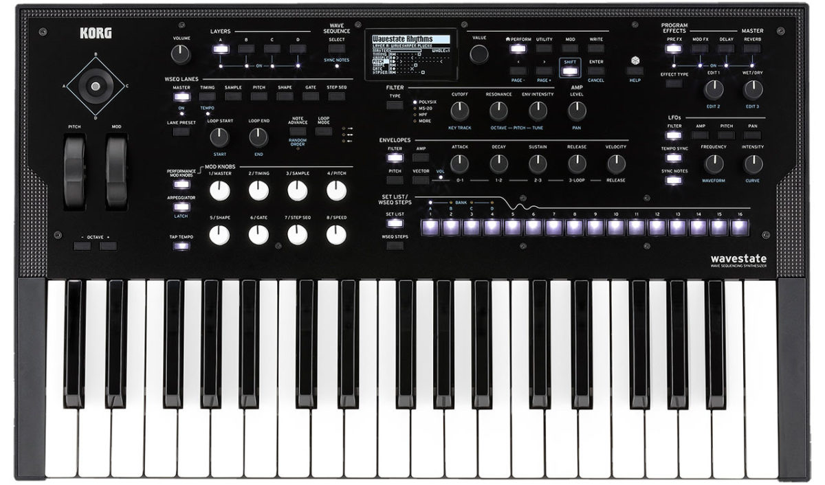 Korg Wavestate con su panel frontal