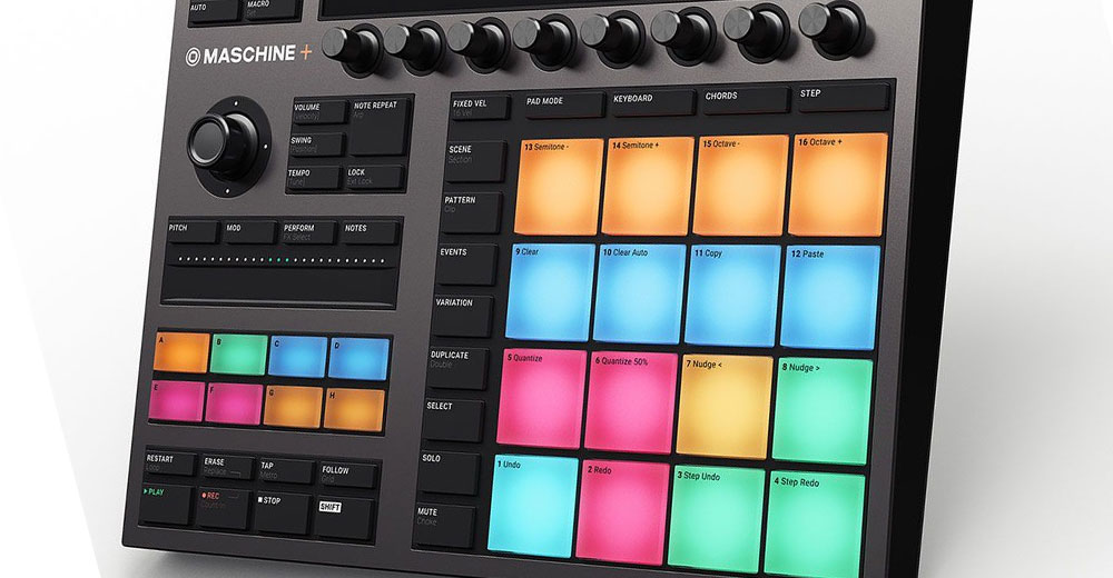 Otra vista diferente de Native Instruments Maschine+