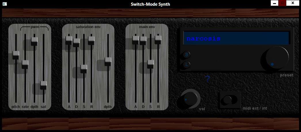 Switch-Mode Synth de Zoned