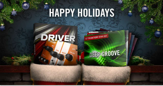 Regalos navideños 2012 de Native Instruments -cinco Remix Sets para Traktor y el plug-in de filtrado y distorsión Driver