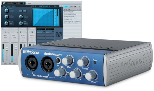 Interface USB para grabación de audio PreSonus AudioBox 22 VSL