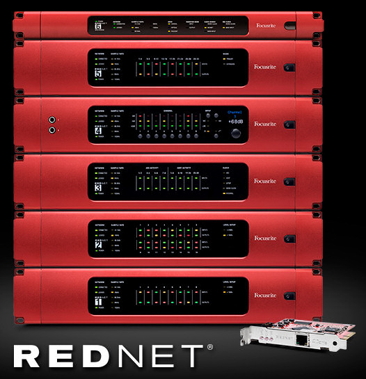 Focusrite RedNet, sistema de audio digital en red