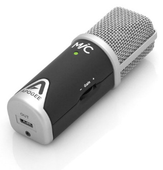 Apogee MiC, micrófono USB para Apple iPhone, iPad, iPod touch y Mac