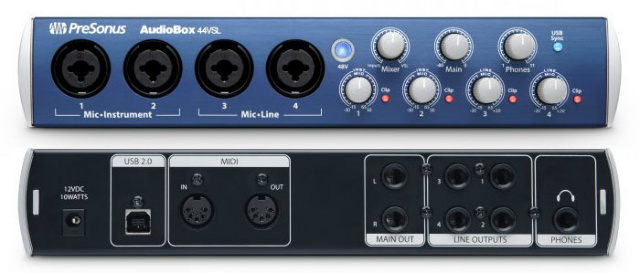 Interface USB para grabación de audio PreSonus AudioBox 44 VSL