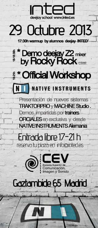 El show de Native Instruments en CEV-INTED incluirá actuaciones y demos de primer nivel