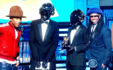 Los Robots, junto a Pharrel Williams y Nile Rodgers, protagonistas absolutos de la 56 edición de los GRAMMY Awards