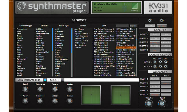 KV331 Audio SynthMaster Player Free