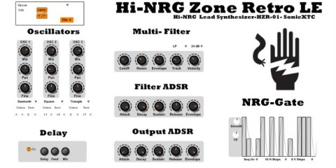 Hi-NRG Zone Retro LE, sinte VST gratis para Windows